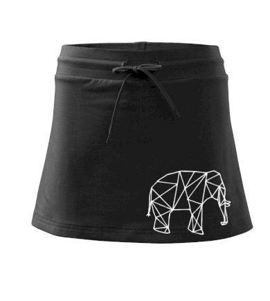 Geometrie - slon - Sportovní sukně - two in one