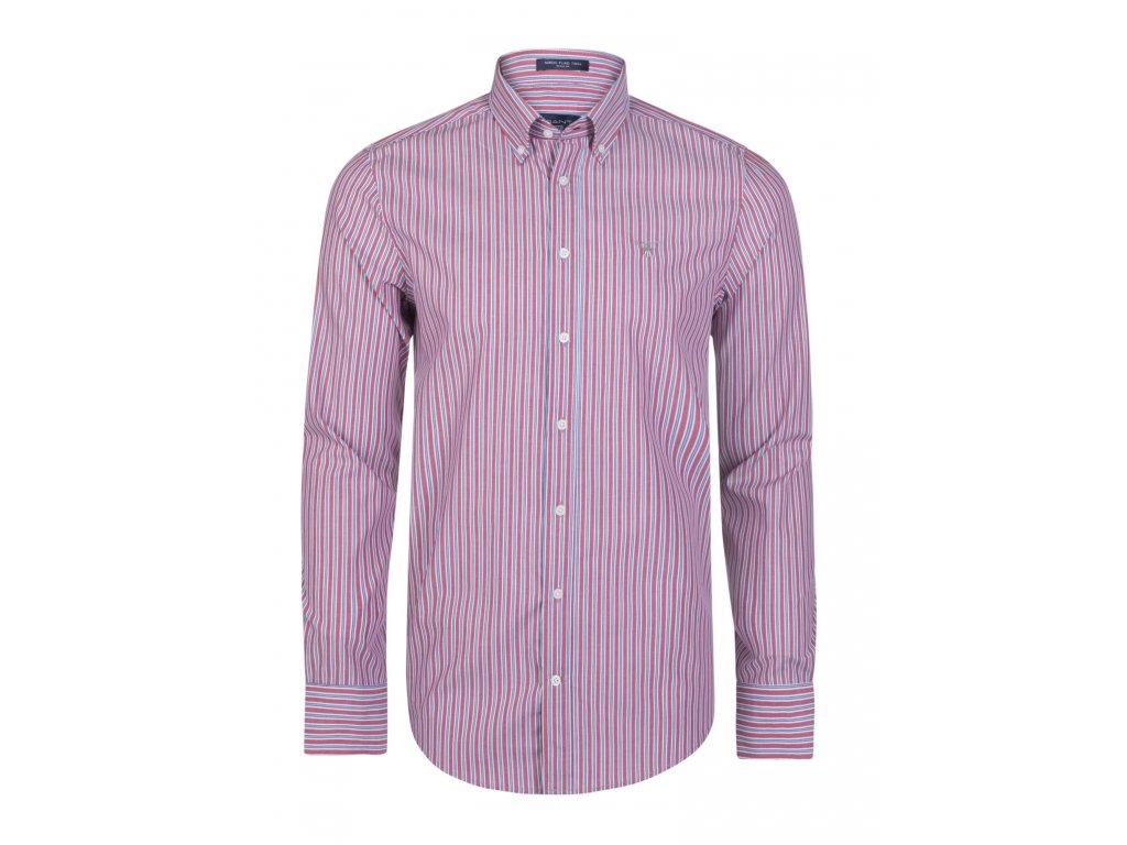 GANT pánská košile červeno-modrá