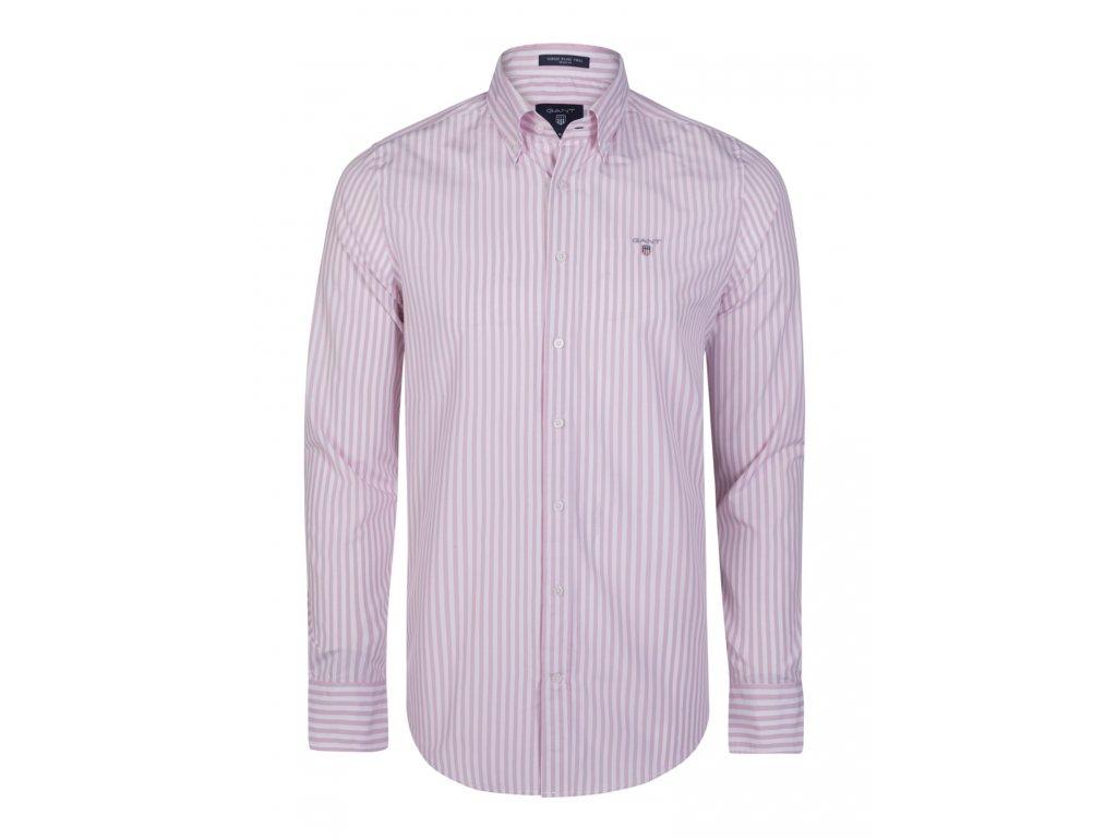 GANT pánská košile růžovo-bílá