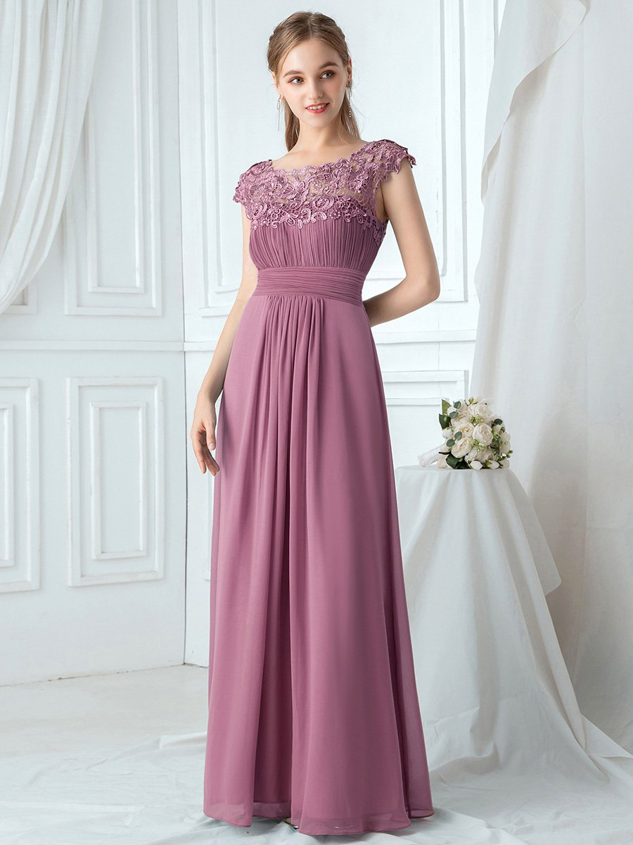 Ever Pretty krajkové šaty růžové 9993