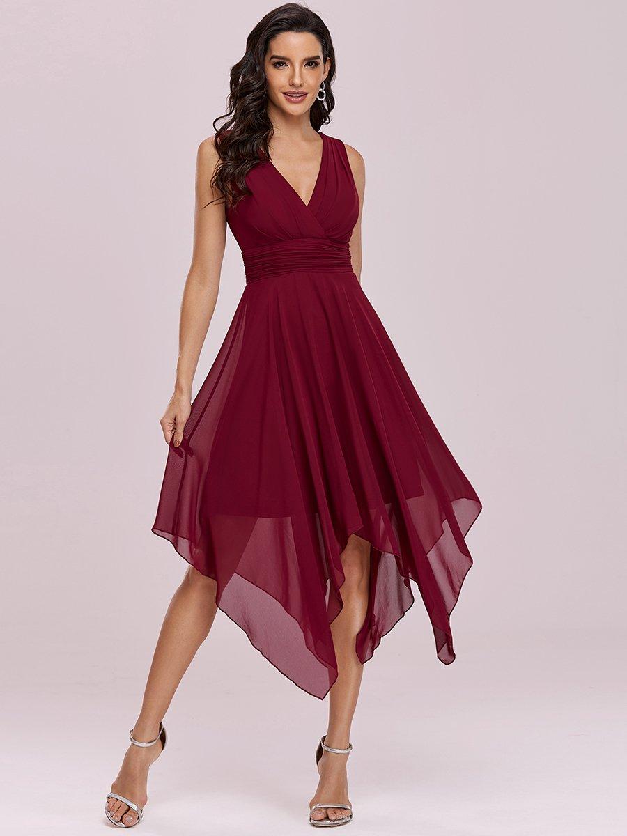 Ever Pretty letní šaty s cípy bordo 3142