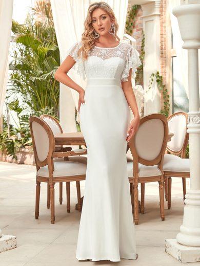 Ever Pretty bílé svatební šaty 90373