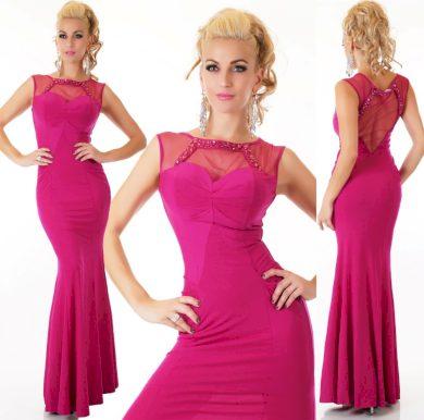 Večerní šaty fuchsiová elegantní nevšední ST158