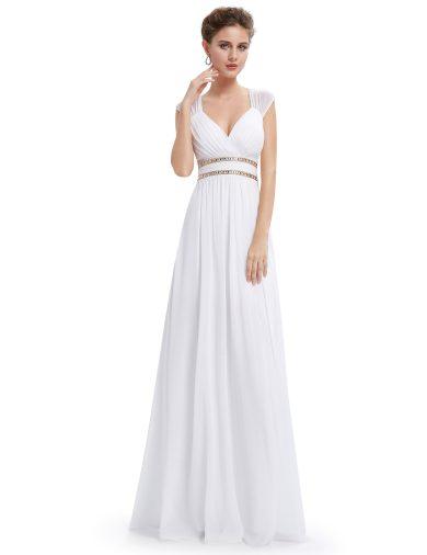 Bílé dlouhé svatební šaty Ever Pretty 8697