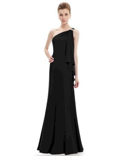 Ever Pretty plesové šaty černé splývavé 9463
