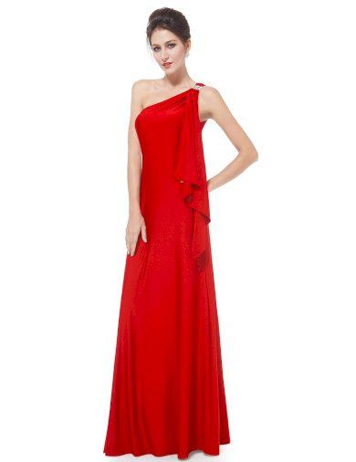 Ever Pretty plesové šaty červené splývavé 9463