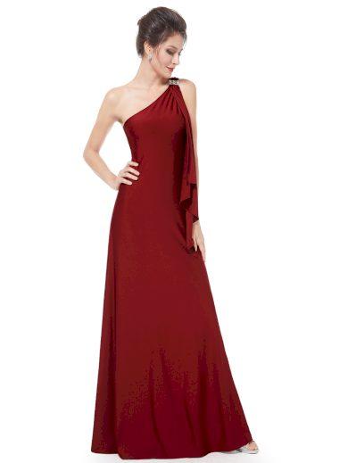 Ever Pretty plesové šaty bordo splývavé 9463