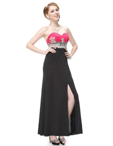 Ever Pretty plesové šaty s výšivkou 9874