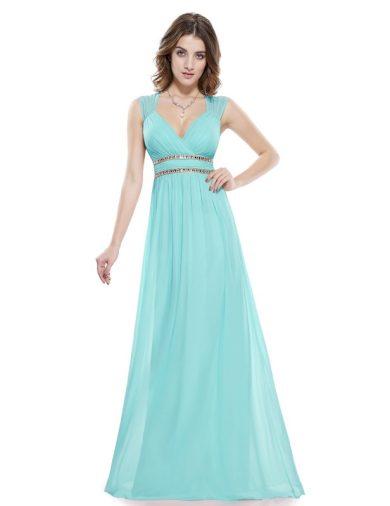 Ever Pretty šaty dlouhé elegantní tyrkysové 8697
