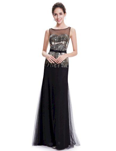 Dámské elegantní Ever Pretty plesové šaty černé 8602