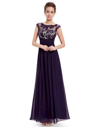 Dámské elegantní Ever Pretty plesové šaty fialové 8441