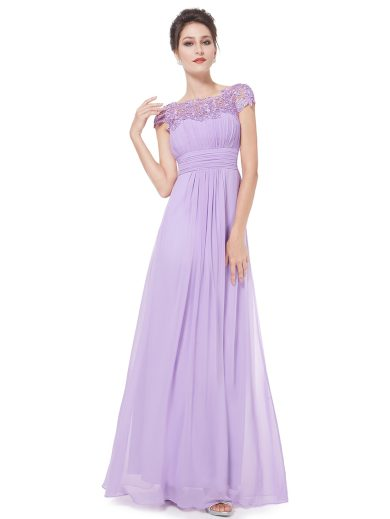 Ever Pretty krajkové šaty společenské fialové 9993
