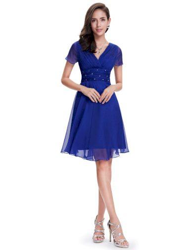 Ever Pretty letní šaty krátké modré 3882