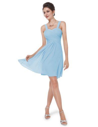 Ever Pretty letní šaty krátké jemně modré 3539