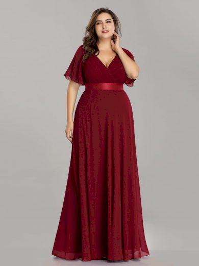 Ever Pretty plesové šaty bordo 9890