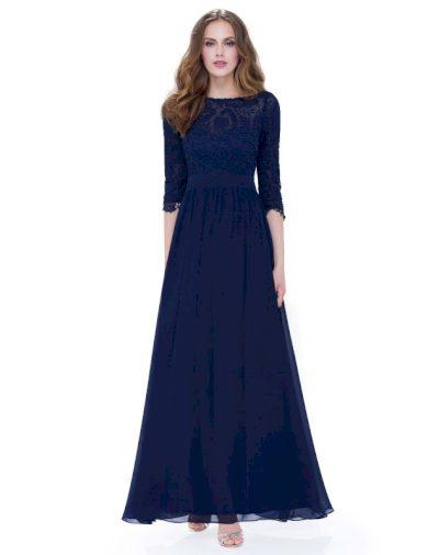 Společenské šaty Ever Pretty 8412 modré tmavé