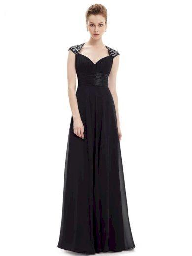 Ever Pretty plesové šaty s flitry černé 9672