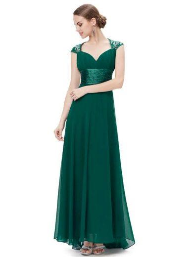 Ever Pretty plesové šaty s flitry zelené 9672 GR