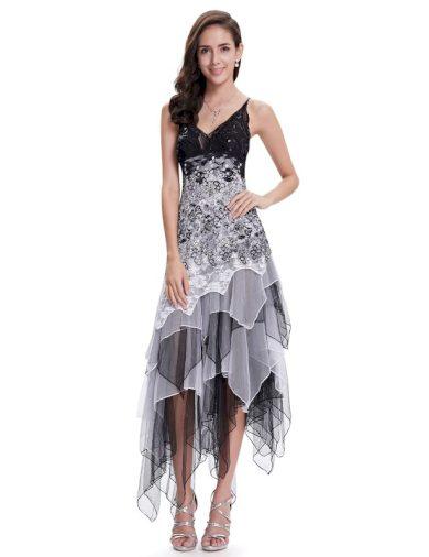 Ever Pretty luxusní letní šaty černo bílé 6212