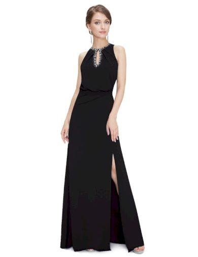 Ever Pretty plesové šaty černé zdobené kamínky 8383