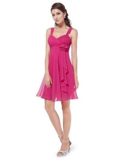 Plesové šaty krátké růžové Ever Pretty 3266