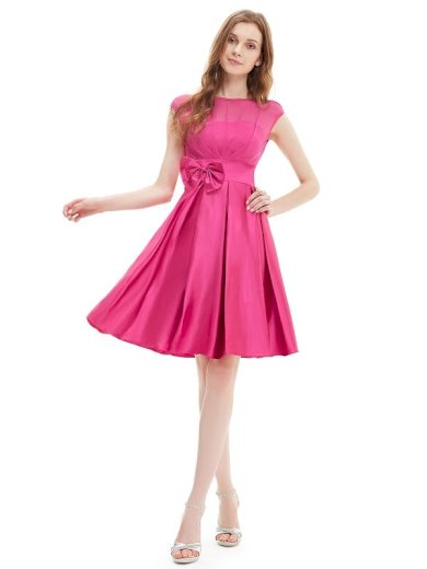 Romantické šaty krátké do tanečních, plesové růžové 6113
