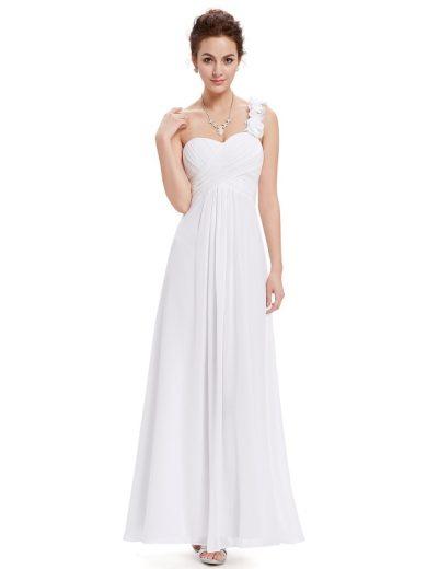 Jemné plesové, svatební šaty na jedno rameno Ever Pretty 9768