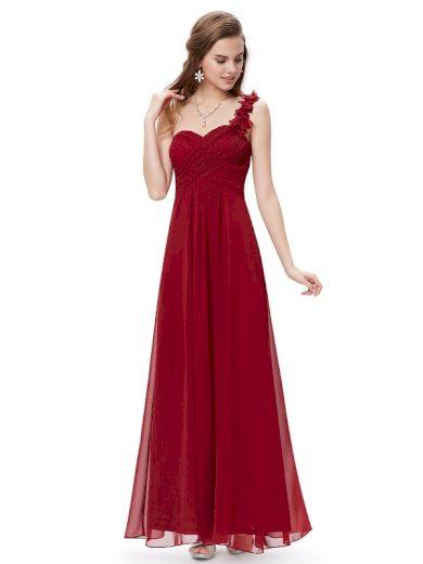 Plesové šaty společenské bordo 9768 RD