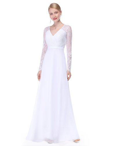 Bílé šaty Ever Pretty plesové šaty dlouhé 8692