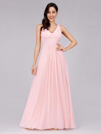 Plesové šaty elegantní jemně růžové Ever Pretty 8110