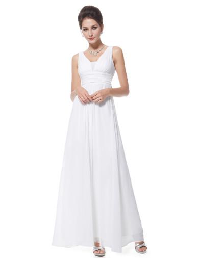 Plesové šaty elegantní bílé Ever Pretty 8110