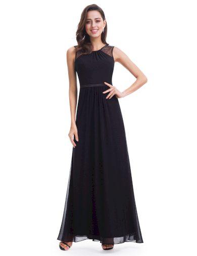 Ever Pretty plesové šaty s perličkami černé 8742