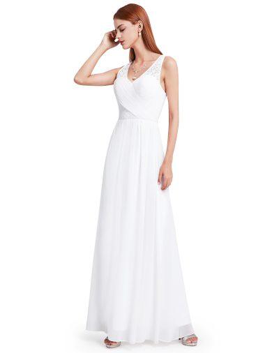 Bílé společenské svatební šaty 8871