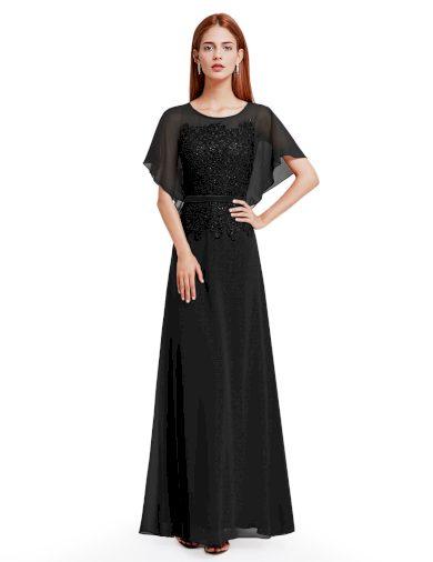 Ever Pretty plesové šaty černá 8775