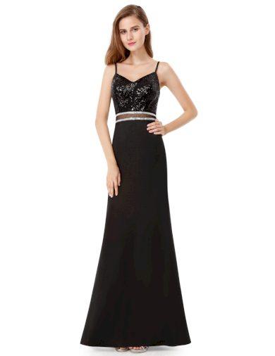 Ever Pretty plesové šaty černé zdobené kamínky 7022