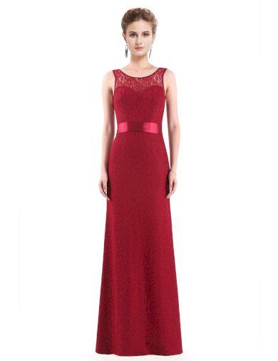 Ever Pretty plesové šaty bordo krajkované 8938