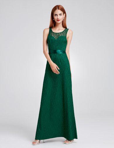 Ever Pretty plesové šaty zelené krajkované 8938