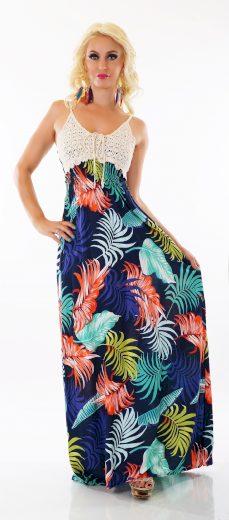 Luxusní letní dlouhé šaty ST153