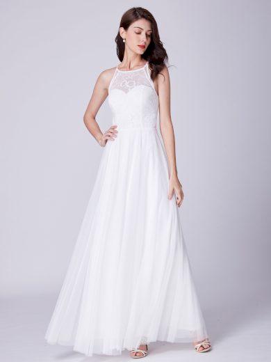 Ever Pretty úchvatné bílé šaty 7514