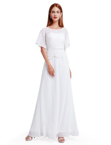 Ever Pretty plesové šaty bílé 8775