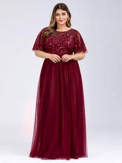 Ever Pretty plesové šaty bordo 0904