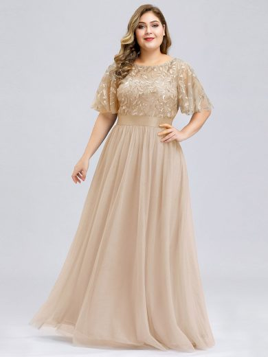 Ever Pretty plesové šaty zlaté 0904