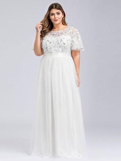 Ever Pretty plesové šaty bílé 0904