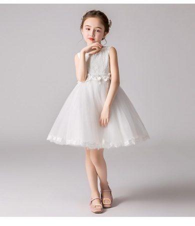 Ever Pretty dětské bílé šaty s krajkou 3386