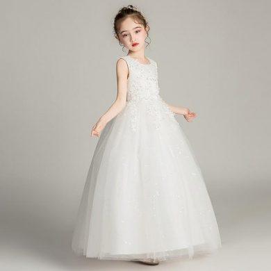 Ever Pretty dětské bílé šaty s výšivkou 3387