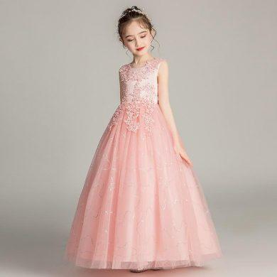 Ever Pretty dětské růžové šaty s výšivkou 3387