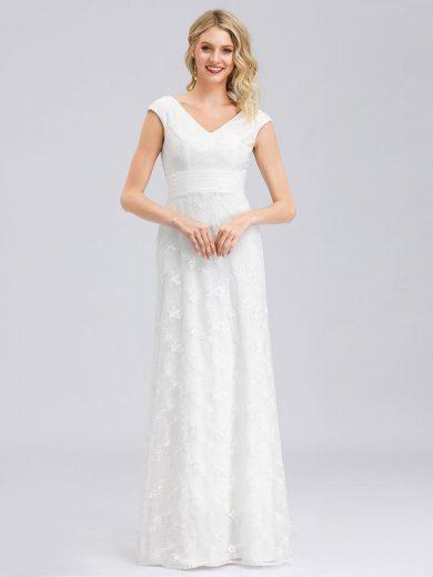 Ever Pretty luxusní bílé šaty 0865