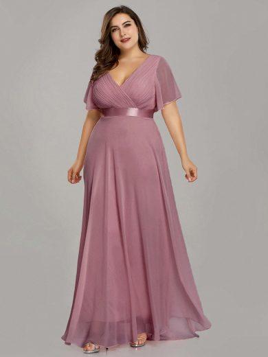Ever Pretty plesové šaty tmavě růžové 9890
