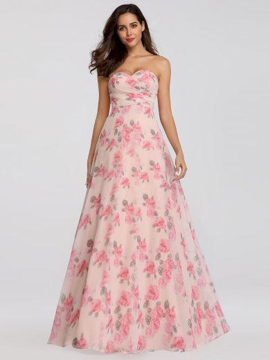 Ever Pretty letní šaty dlouhé 7237 růžové