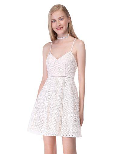 Ever Pretty letní krátké šaty s krajkou 5655